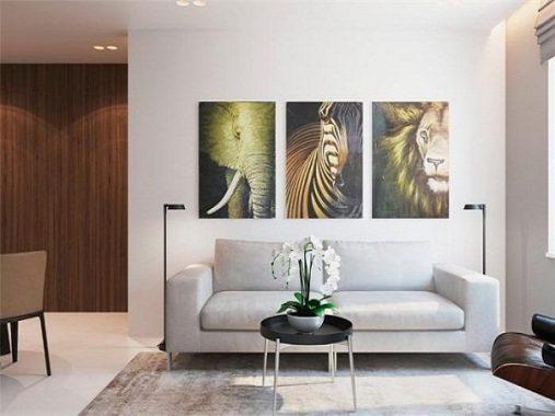 Những bức tranh phong thủy phòng khách rước lộc vào nhà