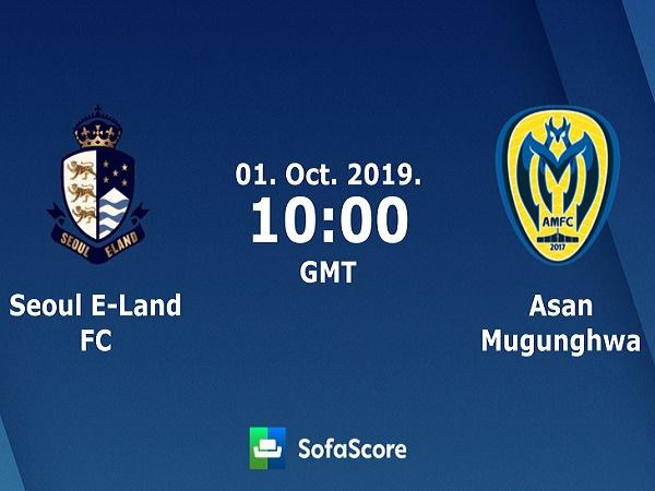 Nhận định Seoul E-Land vs Asan Mugunghwa, 17h00 ngày 1/10
