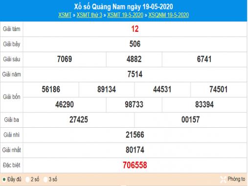 Phân tích kqxs Quảng Nam 26/5/2020, chốt số dự đoán kết quả hôm nay
