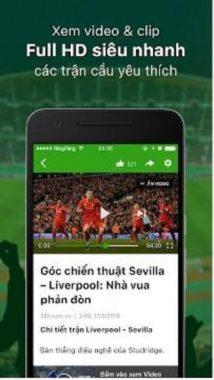Những ứng dụng theo dõi tin tức bóng đá trên điện thoại