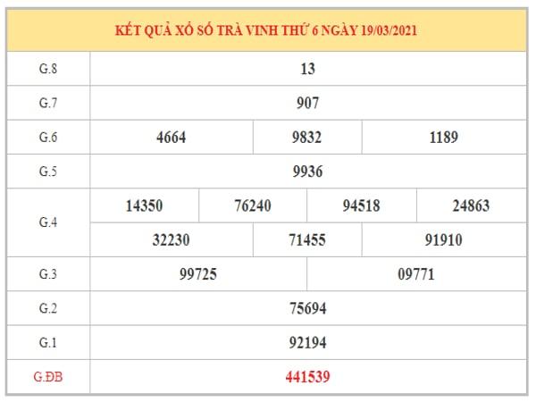 Phân tích KQXSTV ngày 26/3/2021 dựa trên kết quả kì trước