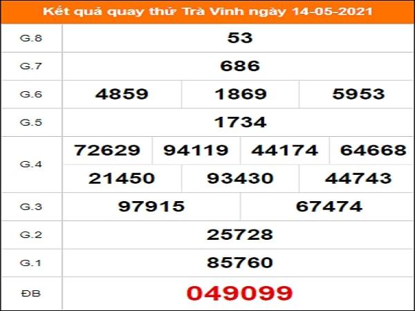 Quay thử xổ số Trà Vinh ngày 14/5/2021